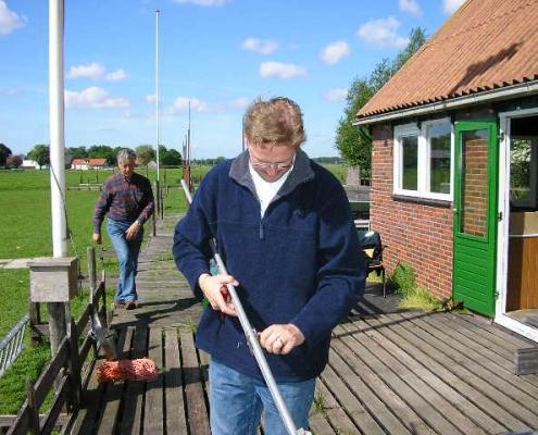 Afbouwen met coördinator Maarten PE2MD
