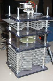 Vlinderafstem-C met fijnregeling en stappenmotor