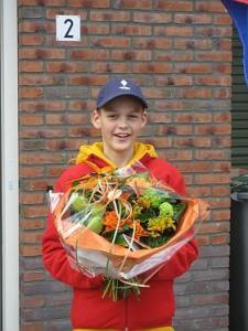 Samuel in de bloemetjes gezet