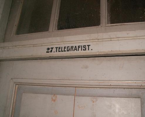 De toegang tot de telegrafistkamer in 2012