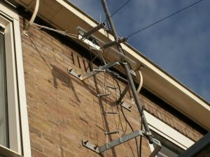 Bevestiging aan de mast