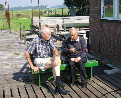 Ben PB2BN (L) in gesprek met Karst PAøKJB