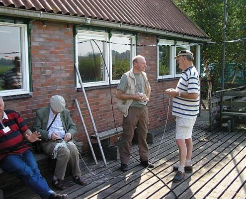 Wim PE3WIM (L), Louis PA1LOI, Jan PG2A en Rients PA3EOT